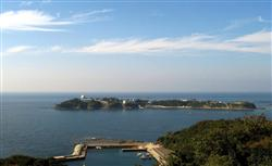 Tsushima radar installation seen from observation deck