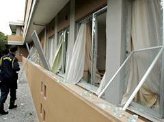 The windows at the Itoman kindergarten