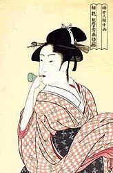 Edo beauty toys with a <em>champon</em>
