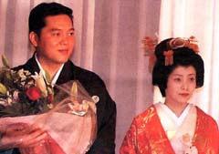 L-R: Tokuda Takeshi and his new boss