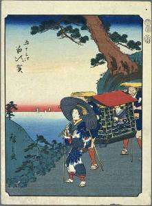 Hiroshige scene of Shirasuka